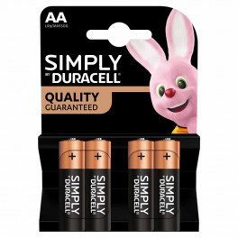 Largo consumo - Pile - DURACELL - DURACELL SIMPLY STILO AA B4