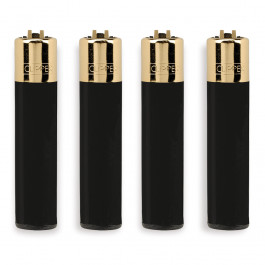 CLIPPER LARGE BLACK CON GOLD CAP